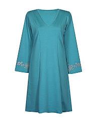 Расклешенное платье с вырезом Аленушка классическое