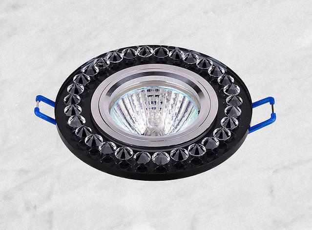 Точечный стеклянный врезной светильник (16-028), фото 2