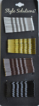 Невидимки для волосся хвилясте Style (4 кольори в уп.)