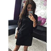 Платье Машенька с бантиками Черный