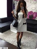 Платье Машенька с бантиками Белый