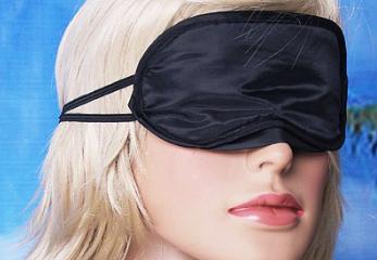 """Шелковая маска для сна """"Solid - Black"""". Повязка для сна. Маска на глаза для сна. Маска для сну"""