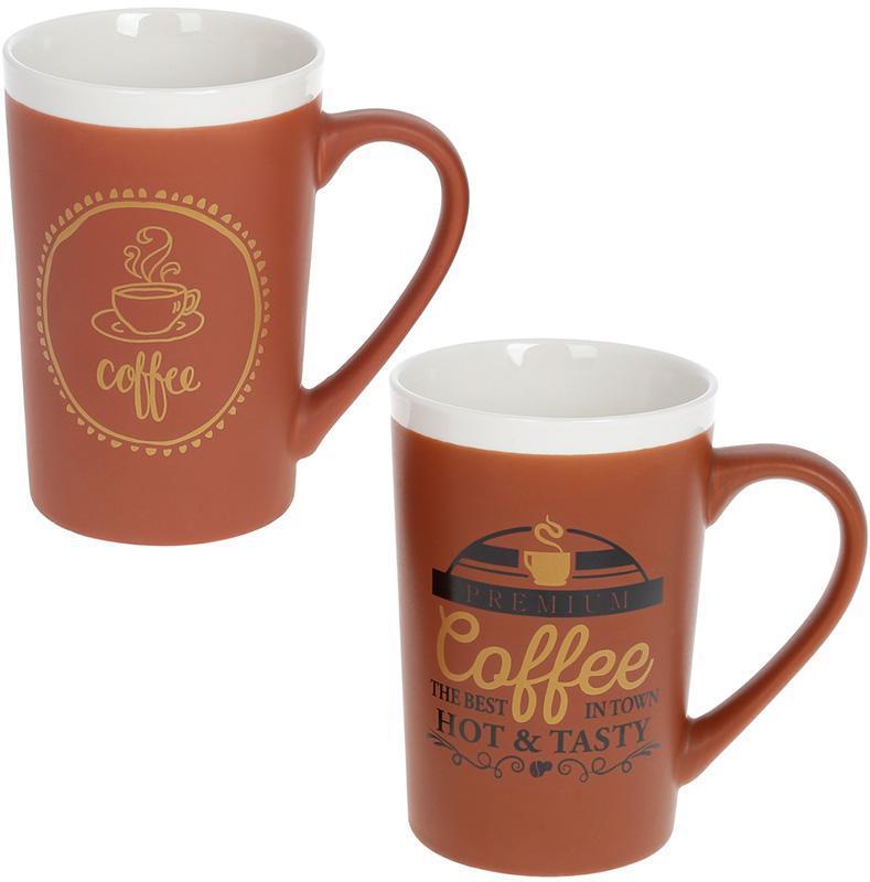 Кружка фарфоровая Coffeе 400мл, 2 дизайна BD-905-205 1 шт