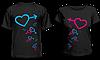 """Парные футболки """"Сердца"""""""