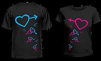 """Парные футболки """"Сердца"""", фото 1"""