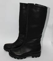 Женские кожаные сапоги на широкую голень, фото 1