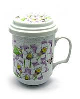 """Чашка заварочная с ситом (BFC1479) """"Цветы"""" (330 мл)"""
