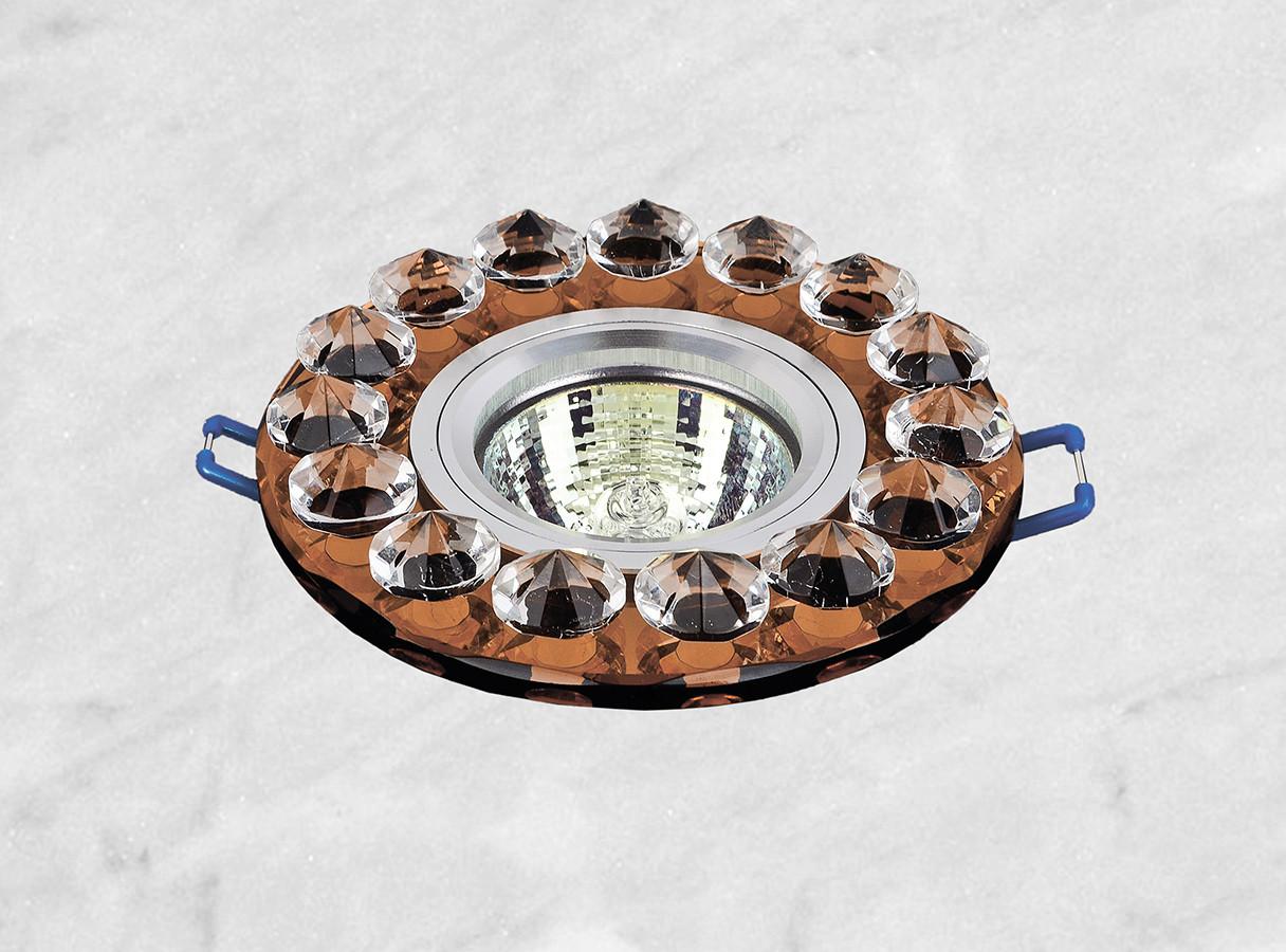 Точечный стеклянный врезной светильник (16-099)