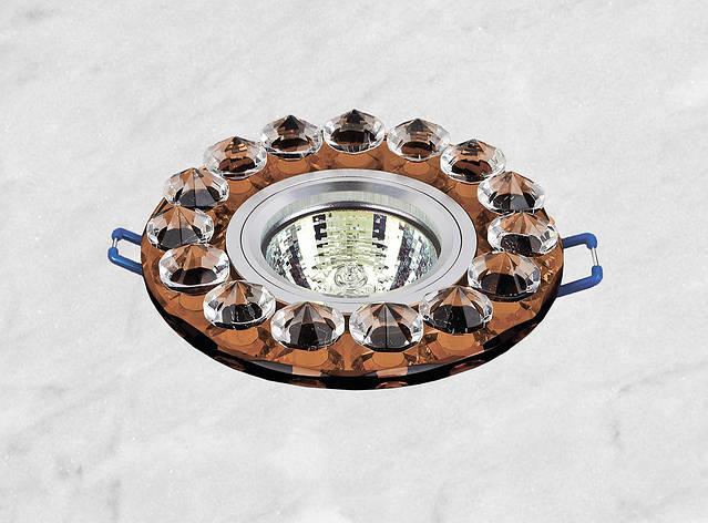 Точечный стеклянный врезной светильник (16-099), фото 2