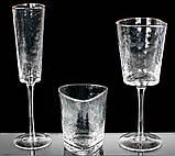 Набір 4 фужера Monaco Ice келихи для вина 400мл, скло з срібним кантом BD-579-127, фото 2