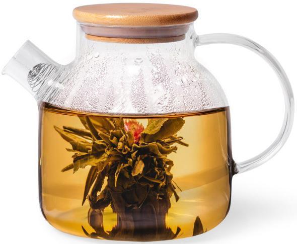 Чайник заварювальний Fissman Shamsi 1.2 л скляний з металевим ситом FN-6537