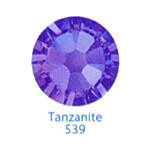 Стразы Swarovski цветные Tanzanite SS3, 100 шт