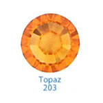 Стразы Swarovski цветные Topaz SS3, 100 шт