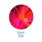 Стразы Swarovski цветные Siam SS5, 100 шт