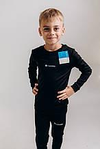 Комплект дитячого термобілизни для хлопчика columbia для футболу чорного кольору