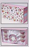 """Кофейный сервиз """"Летний луг""""-130 6 чашек 180мл с блюдцами в подарочной коробке BD-290-130, фото 3"""