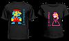 """Парные футболки """"Принцесса и Марио"""""""