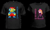 """Парные футболки """"Принцесса и Марио"""", фото 1"""