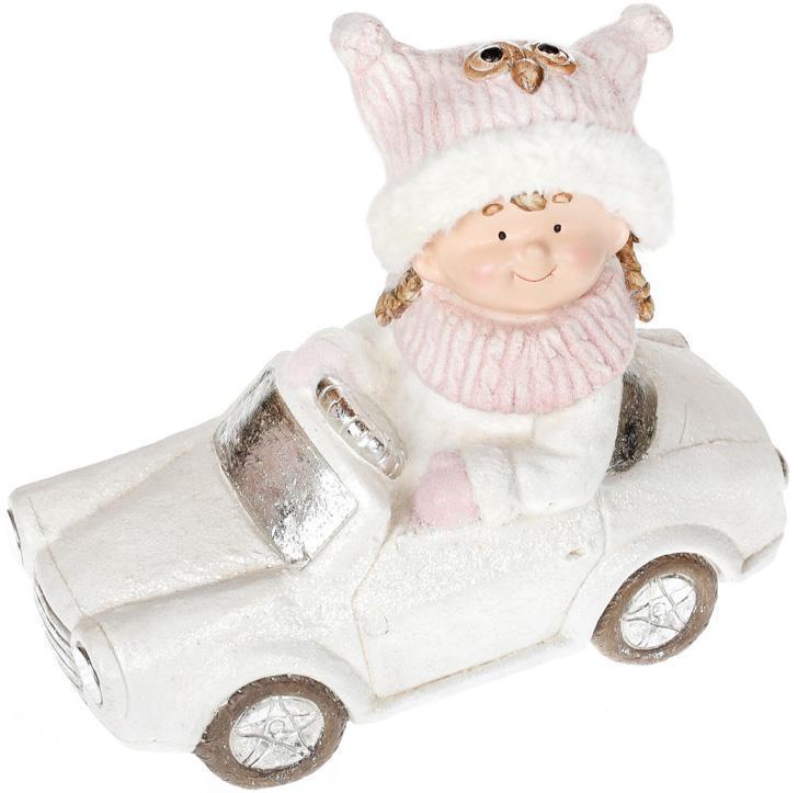 Декоративна фігура Дівчинка на машині 45см з LED підсвічуванням BD-711-287