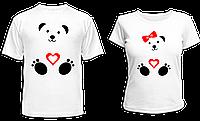 """Парные футболки """"Влюблённые мишки"""""""