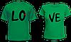 """Парные футболки """"LO - VE"""""""