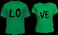 """Парные футболки """"LO - VE"""", фото 1"""