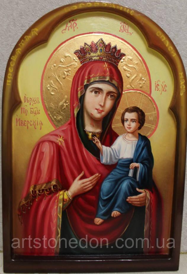 Икона Божьей Матери Иверская писаная маслом