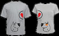 """Парные футболки """"Пёсики"""", фото 1"""