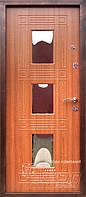 Двери входные ТМ Абвер модель Амели с глянцевыми вставками