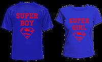 """Парные футболки """"Super BOY & Super GIRL"""""""
