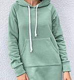 Тепле плаття в спортивному стилі з капюшоном і кишенею кенгуру, фото 8