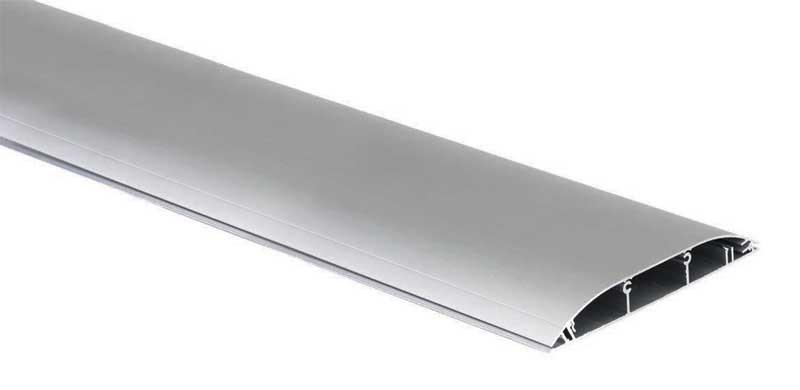 Напольный алюминиевый кабельный канал Simon 130х18х2000 мм 3 секции TF11183/8