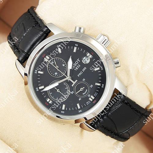 Практичные наручные часы Tissot quartz Chronograph Black/Silver/Black 2225