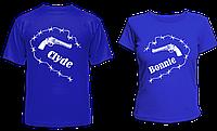 "Парные футболки ""Бони и Клайд"", фото 1"
