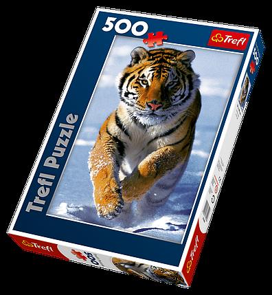 Пазли TREFL 37009 Сніговий тигр, фото 2