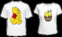 """Парные футболки """"Винни и мёд"""", фото 1"""