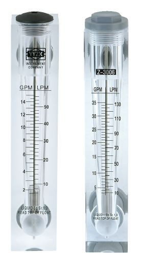 """Ротаметр панельного типу Z-300K7, 1"""", 10-130 л/хв (без регулятора потоку)"""