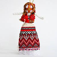Новогодний сувенир. Кукла-мотанка красная средняя