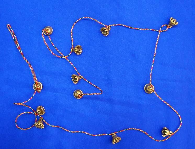 Колокольчики бронзовые на нитке (125 см)(Bell Kali no. 0)