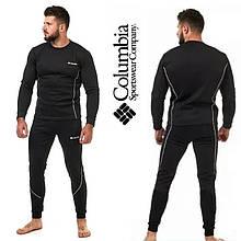 Чоловіче спортивне термобілизна Columbia , комплект чоловічого термобілизни для спорту чорного кольору