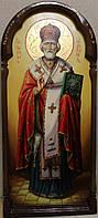 Икона ростовая писаная Святой Николай Чудотворец