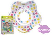 Круг на шею для купания детский KinderenOK Floral киндеренок бирюзовый