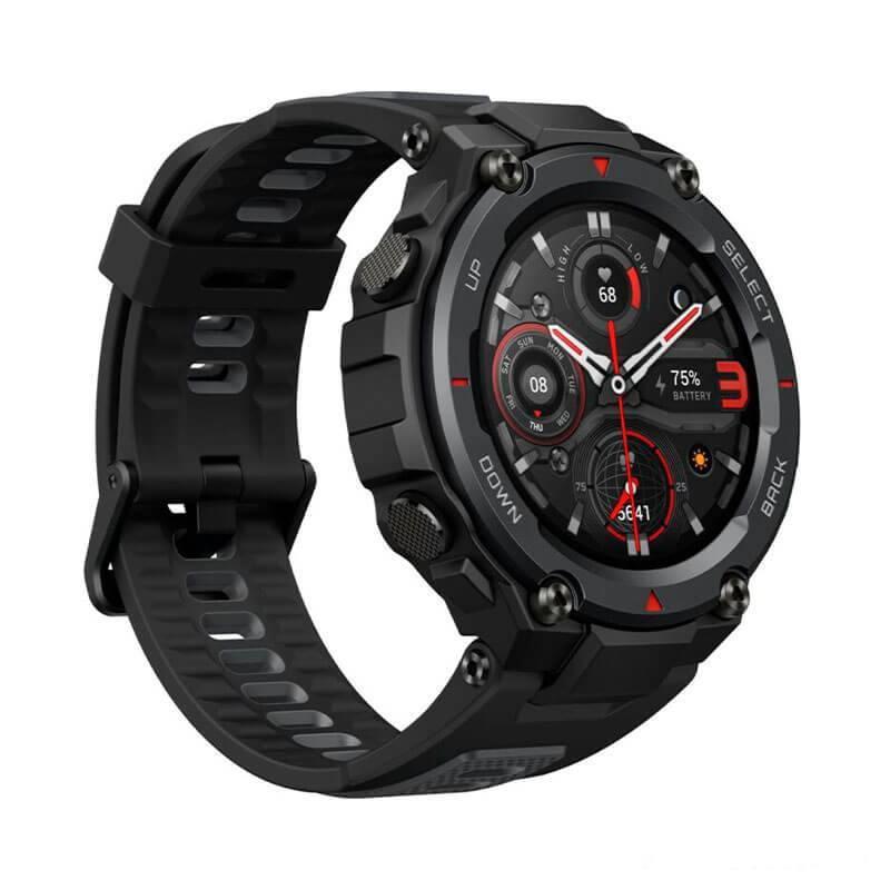 Розумні годинник Smart Watch Xiaomi Amazfit T-Rex Pro Meteorite Black 10 АТМ пульсометр, пульсоксиметр, крокомір