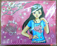 "Блокнот детский на замке (фотоальбом + зеркало ""Девушка"") арт.К360221"