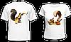 """Парные футболки """"Саблезубые белки - 2"""""""