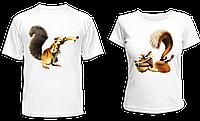 """Парные футболки """"Саблезубые белки - 2"""", фото 1"""