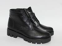 Женские ботинки на тракторной подошве, натуральная кожа, фото 1