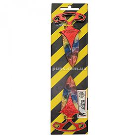 Іграшковий ніж дерев'яний «Тичковий Веселка» Marble Fade Counter-Strike, 2 шт., 12 см (DAG-R)