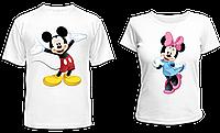 """Парные футболки """"Микки и Минни - 2"""""""