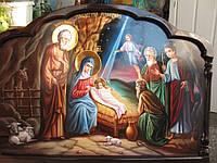 Икона писаная Рождество Христово